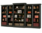 Antique Black Bookcase Wall Oxford by Howard Miller HM-920-012-SET
