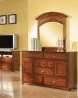 Antique Oak Dresser w/ Mirror Brandon by Acme Furniture AC11015DM