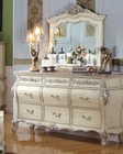 Antique White Dresser w/ Mirror MCFB8301-DM