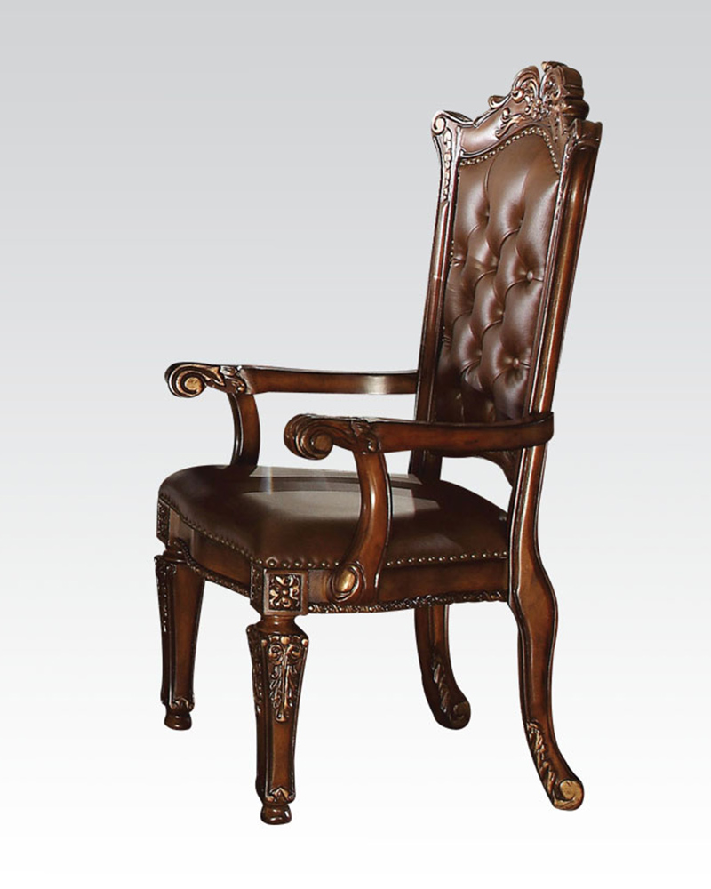 Arm Chair Vendome Cherry By Acme Furniture Ac60004 Set Of 2