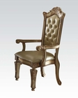 Arm Chair Vendome Gold by Acme Furniture AC63004 (Set of 2)