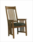 Arm Chair w/ Leather Seat Arts & Crafts by Hekman HE-84003 (Set of 2)