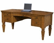 "Aspen Furniture Curve 66"" Pedestal Desk E2 Class Harvest ASI15-371"