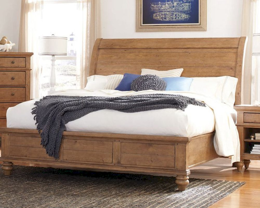 Aspen Sleigh Bed Spruce Bay As I72 400wbed