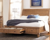 Aspen Sleigh Storage Bed Spruce Bay AS-I72-400WBEDD