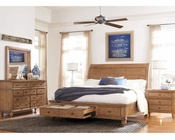 Aspen Sleigh Storage Bedroom Spruce Bay AS-I72-400WSetD