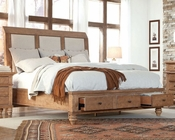 Aspen Upholstered Sleigh Storage Bed Spruce Bay AS-I72-400BEDD