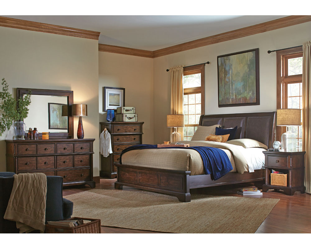 aspenhome bedroom set bancroft asi08 422set