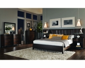 Aspenhome Bedroom w/ Panel Bed Wall Contour ASI11-427-2967Set