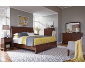 Aspenhome Bedroom w/ Sleigh Bed Cherry Forge ASI12-400Set