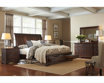 aspenhome bedroom set w storage bed westbrooke asi59 400sset