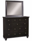 *Aspenhome Chesser and Mirror Cambridge in Black ASICB-555-63-BLK