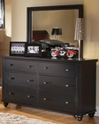 *Aspenhome Dresser and Mirror Cambridge in Black ASICB-554-63-BLK