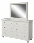 Aspenhome Dresser and Mirror Cambridge in Eggshell ASICB-554-63-EGG