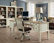 Aspenhome E2 72in Curved Half Pedestal Desk Cottonwood ASI67-372
