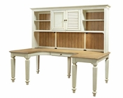 Aspenhome E2 U Desk and Hutch Cottonwood ASI67-385-380H