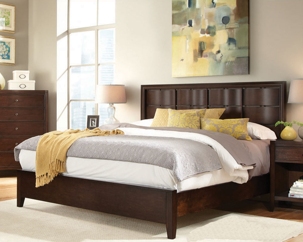 Aspenhome Bedroom w Curved Headboard Bed Contour ASI11 412 15Set