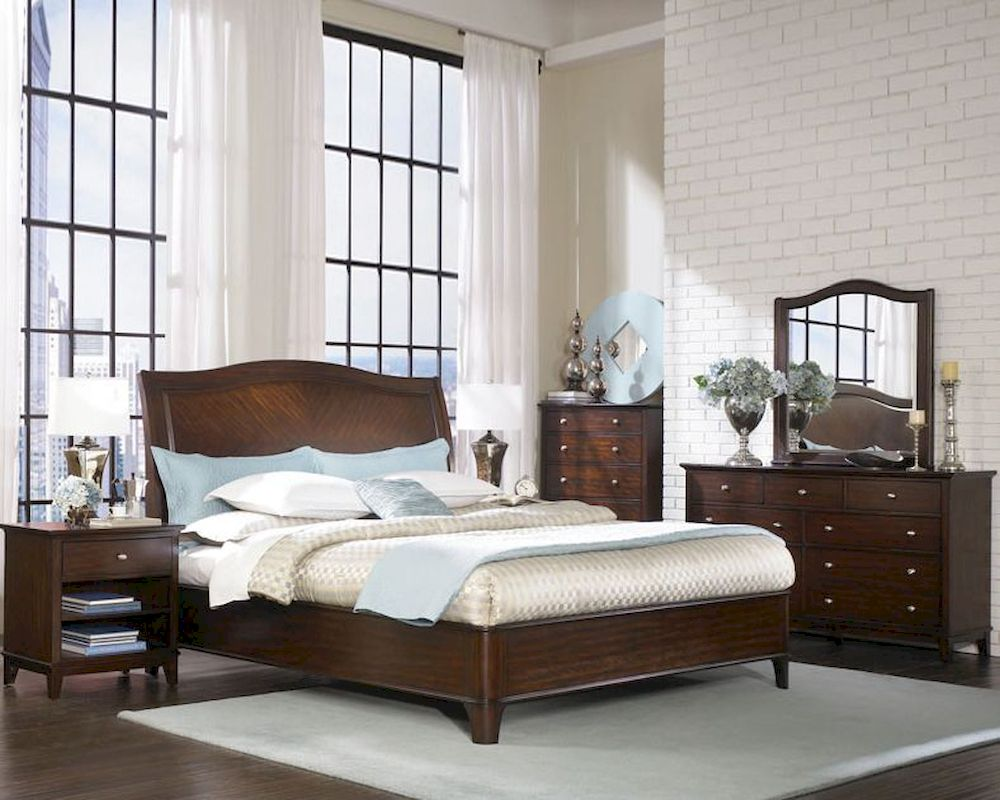 aspenhome furniture sleigh bedroom set lincoln park asi82 400set 13