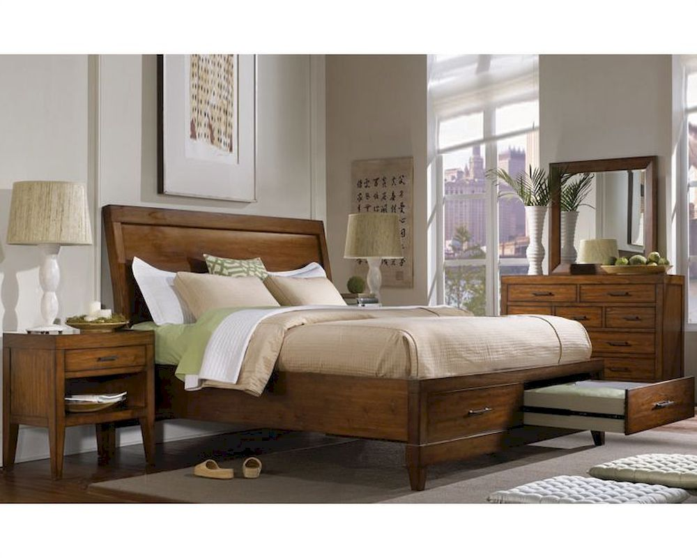 aspenhome furniture storage bedroom set tamarind asi68 400stset