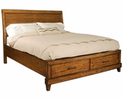 Aspenhome Furniture Storage Sleigh Bed Tamarind ASI68-400STBED