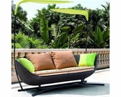 Bask Outdoor Daybed in Espresso, Multicolor by Modway MY-EEI740EMU