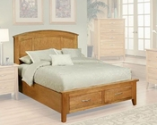 Bed in Light Oak Finish Firefly County by Ayca AY-22-02Bed