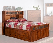 Bed w/ Storage Headboard Sedona by Sunny Designs SU-2322RO-S