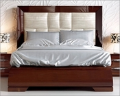 Bed w/ Upholstered Headboard Carmen in Walnut ESFCABED