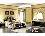 Bedroom Set Black Baroque Classic Style Made in Italy 33B431