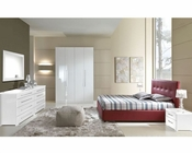 Bedroom Set Blanca Modern Style in White Made in Italy 33B391