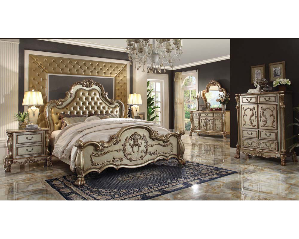 bedroom set dresden gold by acme furniture ac2316set - Picture Of Furniture For Bedroom