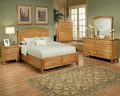 Bedroom Set in Light Oak Finish Firefly County by Ayca AY-22-02Set