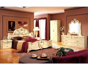 Bedroom Set Ivory Baroque Classic Style Made in Italy 33B411