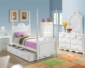 Bedroom Set w/ Heart-Shaped Design Sweetheart by Acme AC30170SET