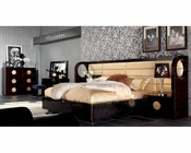 Bedroom Set w/ Modern Leather and Lacquer Bed 44B194SET