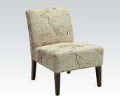 Beige Accent Chair in Contemporary Style by Acme Furniture AC96229