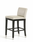 Beige Leatherette Bar Stool in Contemporary Style 44D8158VG-C