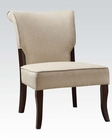 Beige Linen Accent Chair by Acme Furniture AC59189