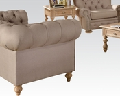 Beige Linen Loveseat Shantoria by Acme Furniture AC51306