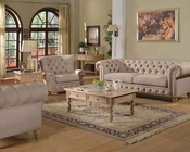 Beige Linen Sofa Set Shantoria by Acme Furniture AC51305SET