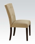 Beige Microfiber Side Chair Baldwin by Acme AC16837 (Set of 2)