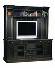 Black 88in Entertainment Credenza w/ Hutch by Hekman HE-81442CH