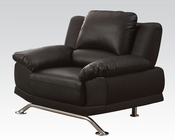 Black Bonded Leather Chair Maigan by Acme Furniture AC51207