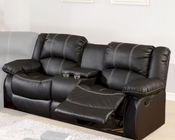 Black Bonded Leather Loveseat MCFSF3591-L