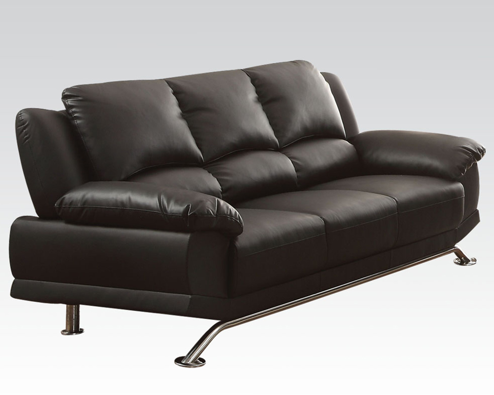 Black Bonded Leather Sofa Maigan by Acme Furniture AC