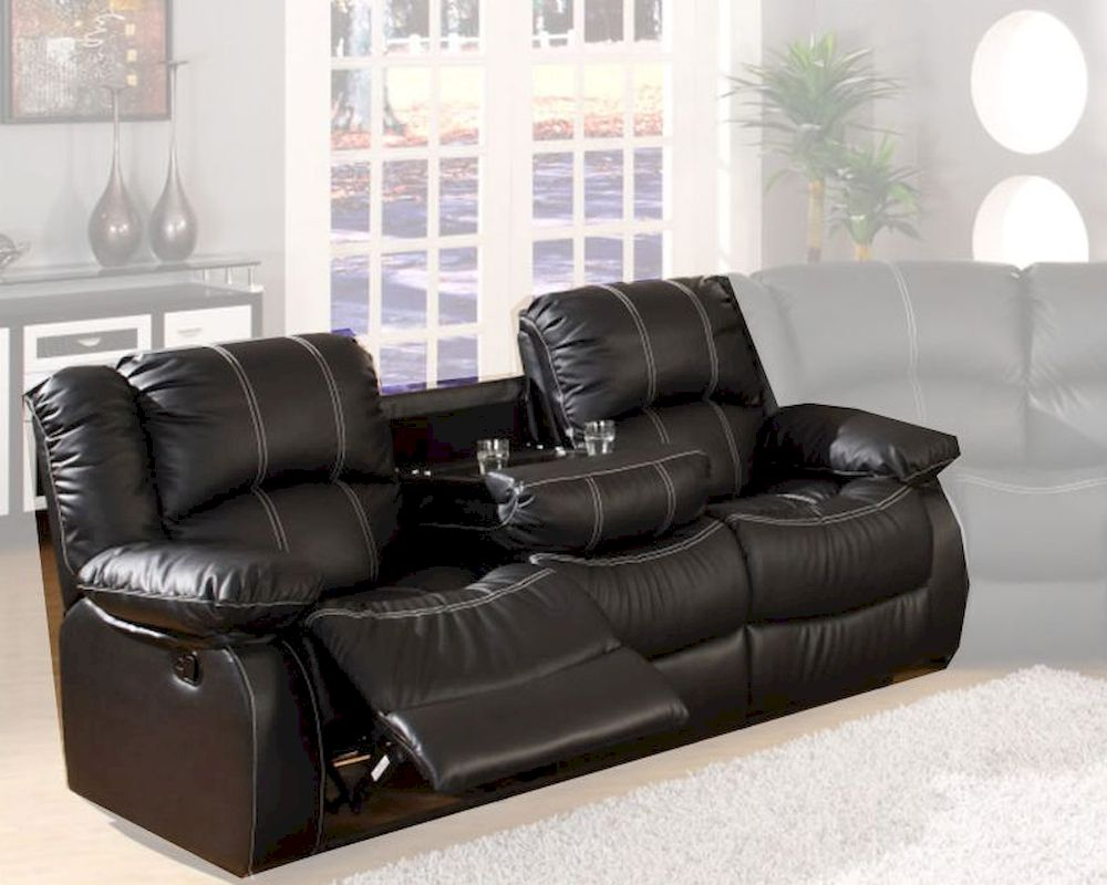 Black Bonded Leather Sofa MCFSF3591 S