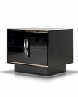 Black Crocodile Lacquer Nightstand in Modern Style 44B152NS