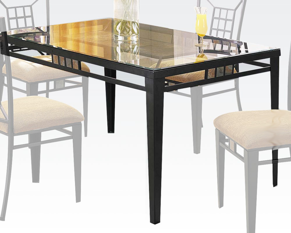 black dining table douglas by acme furniture ac08285