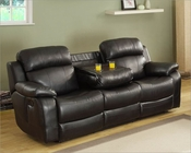 Black Double Reclining Sofa Marille by Homelegance EL-9724BLK-3