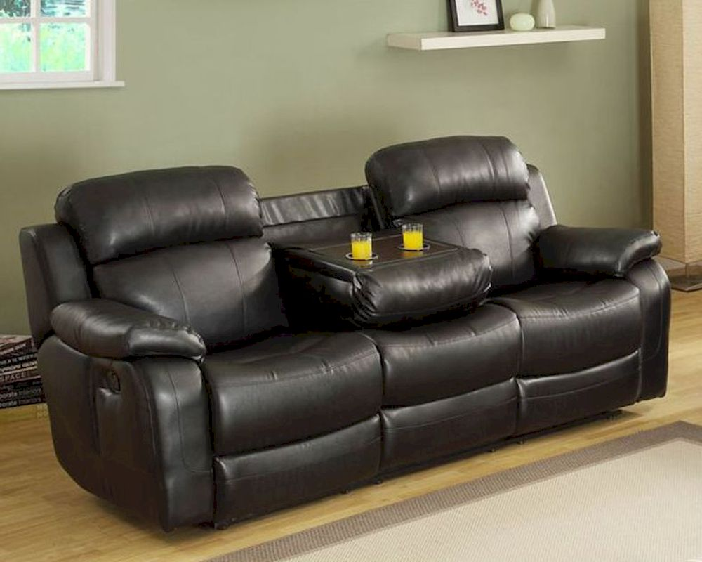 Black Double Reclining Sofa Marille By Homelegance El